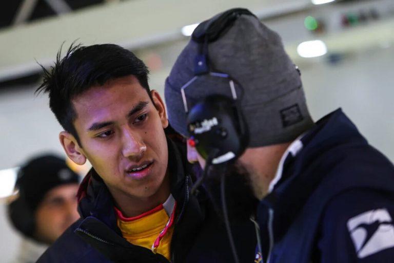 Sean GP2 Crash